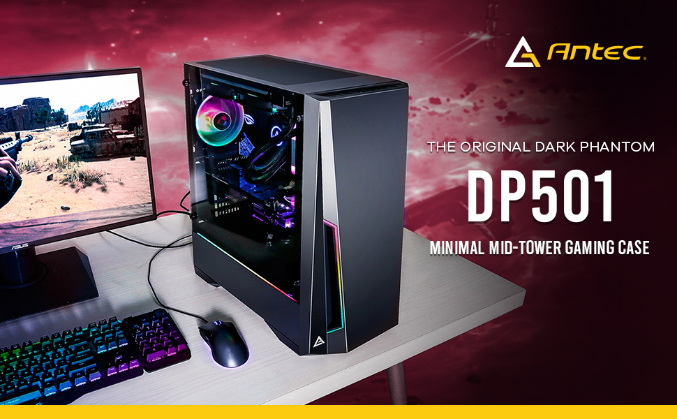 Image result for ANTEC DP501 MINIMAL MID-TOWER GAMING CABINET