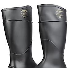 "Servus Comfort Technology 14"" PVC Steel Toe Men's Work Boots, PVC Boots, comfortable boots"