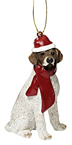 Christmas Ornaments - Xmas Pointer Holiday Dog Ornaments