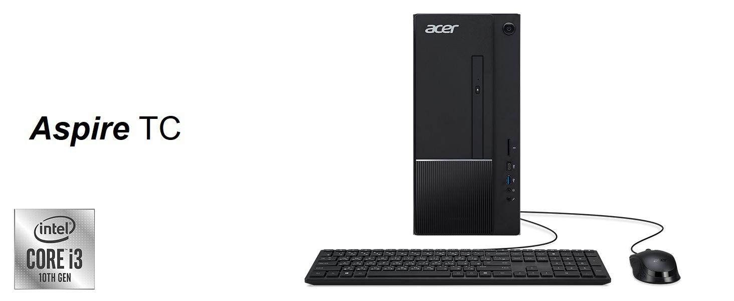 Amazon Choice Acer TC-875 10th Generation Core i3-10100 Desktop WiFi 6 SSD USB 3.2