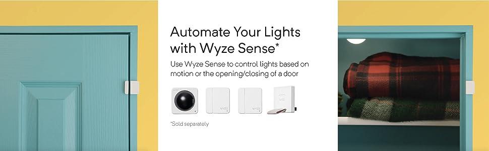 wyze sense, contact sensors, automation, automate