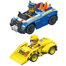 Chase and Rubble Slot Car Toys for kids ages 3 4 and 5 Carrera Slot Cars