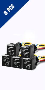 amazon com nilight 12v car add a circuit fuse tap adapter mini atminline fuse holder · automotive relay harness set · heat shrink tubing · quick splice wire terminals · add a circuit fuse holder