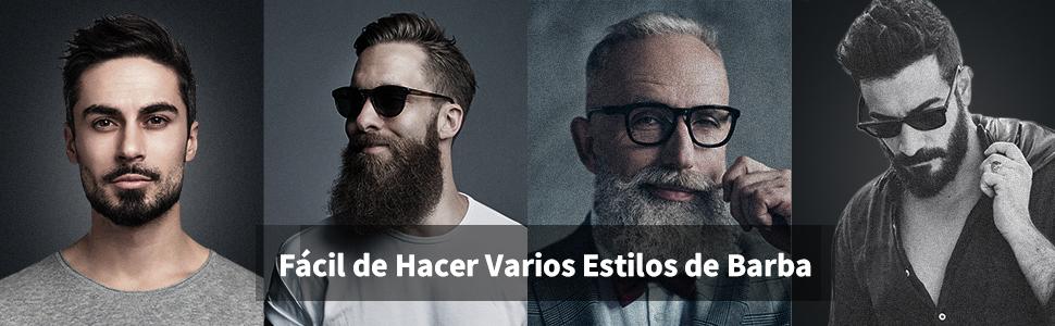 Barbero Eléctrico Profesional 5 en 1 con 5 Peines, Afeitadora ...
