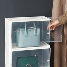 HOUZE - Stackable Luxury Bag See Thru Storage : Stackable Design, Easy to Clean