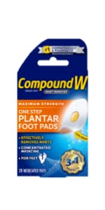 Compound W One Step Pads for Feet