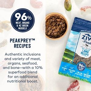 peak prey raw diet whole prey meat organs bone high meat nutrient rich superfood inclusions boost