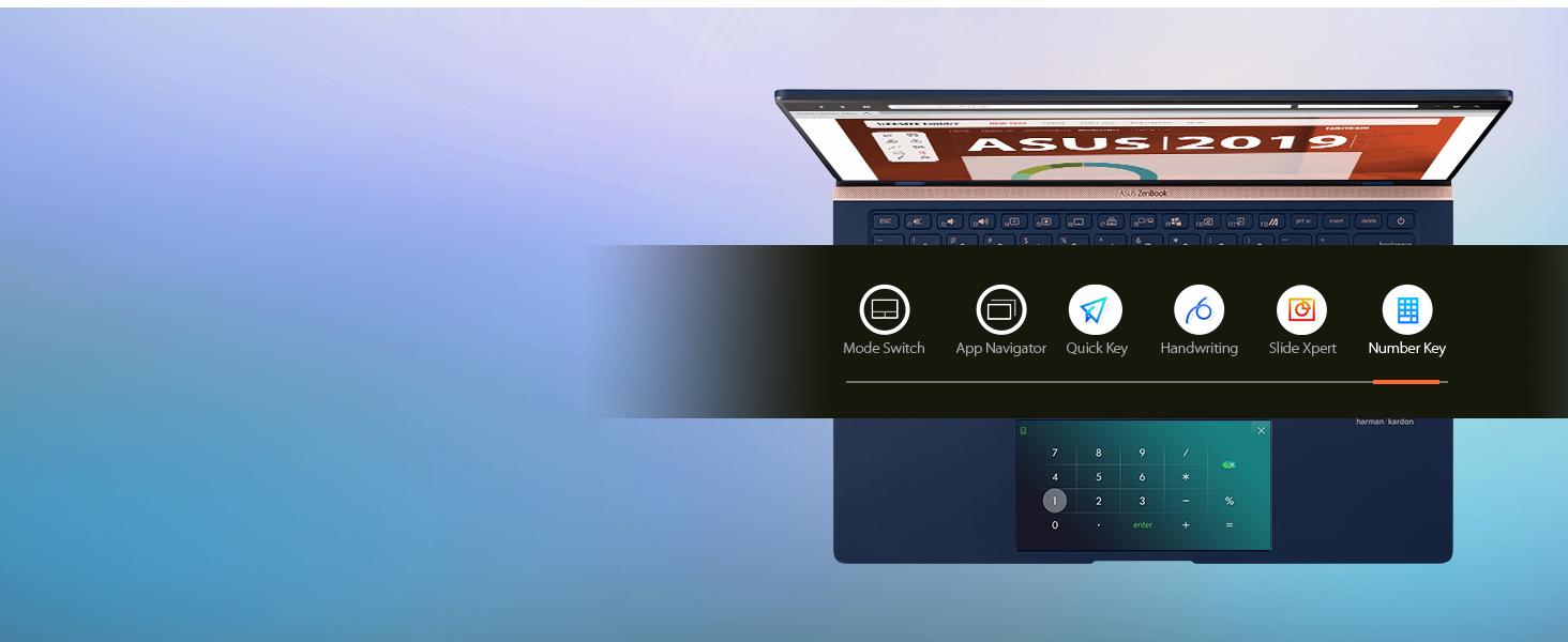 ScreenPad 2.0: Number Key