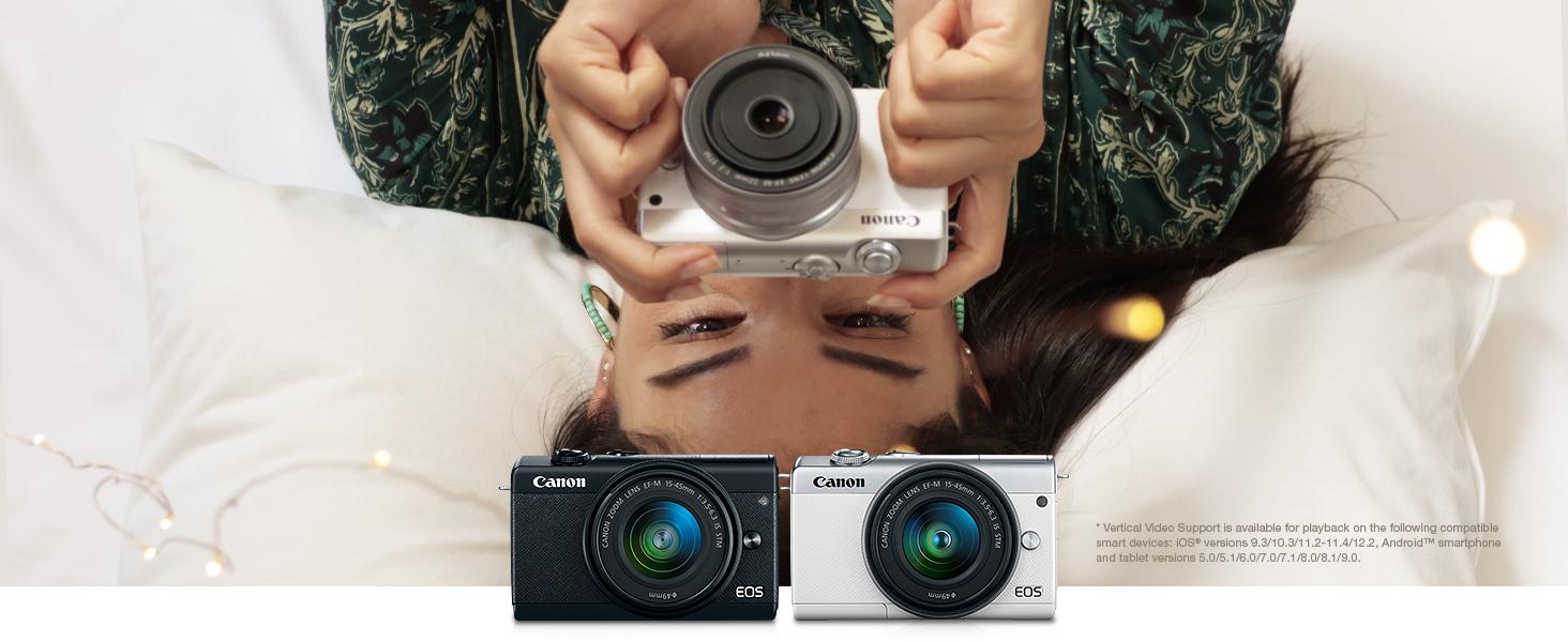 compact, mirrorless EOS M200 camera