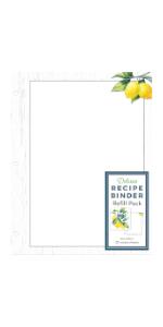 refill sheets deluxe recipe binder favorite recipes lemons