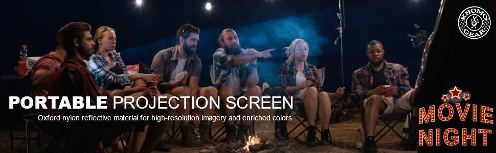 portable projection screen Khomo Gear