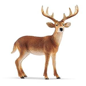 white tailed buck, buck, deer, schleich deer, schleich buck,schleich white tailed buck,buck figurine