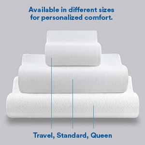 tempurpedic pillow; standard pillows; firm pillow; gel pillow