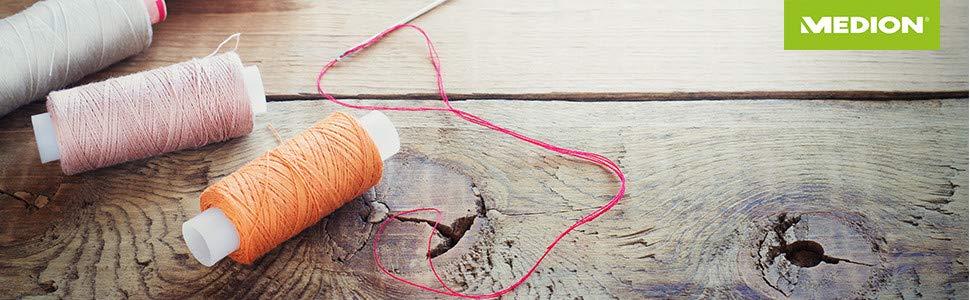 MEDION MD 15694 - Máquina de coser digital, 30 W, ojal en 1 paso ...