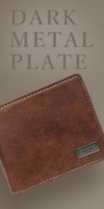 ダークメタルプレート 二つ折財布