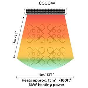6000W Bromic Tungsten Electric Patio Heater