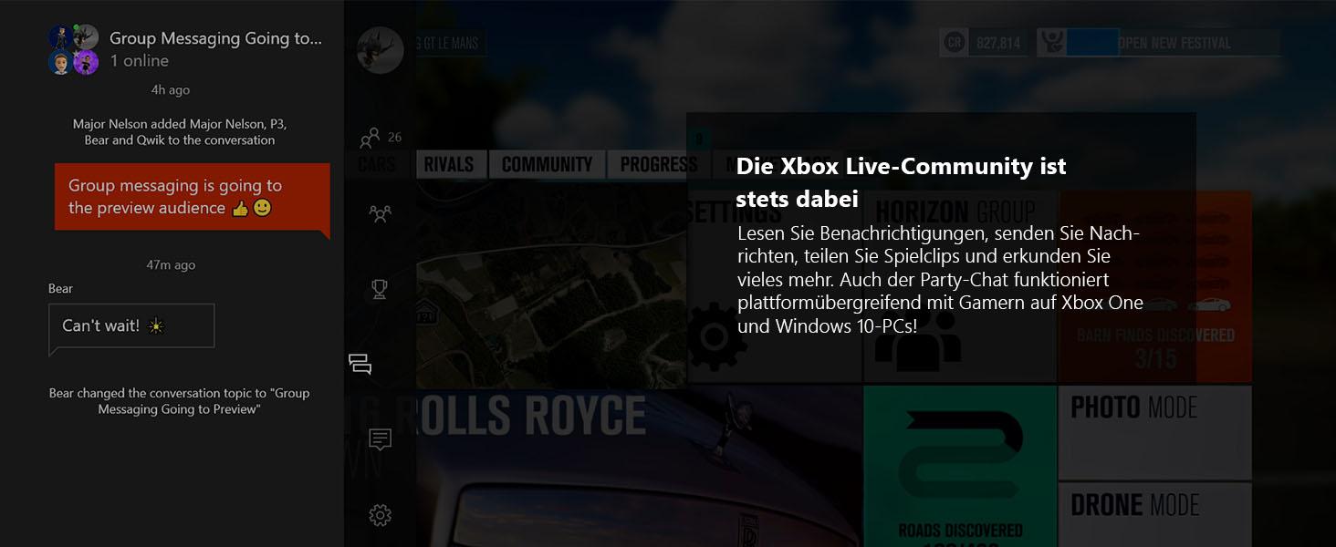 Die Xbox Live-Community ist stets dabei