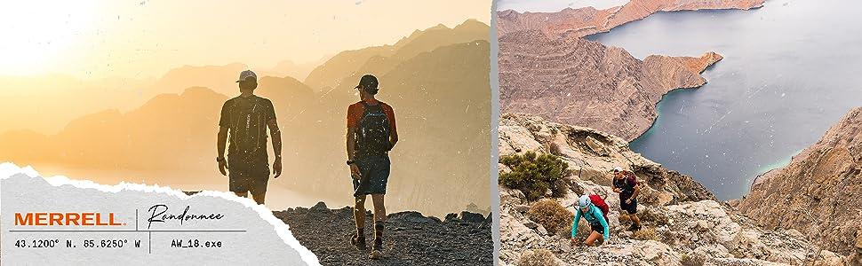 Randonnée; Voyage; Merrell; Outdoor; Confort; Montagne; Vibram; stabilité; amorti; durable; Goretex