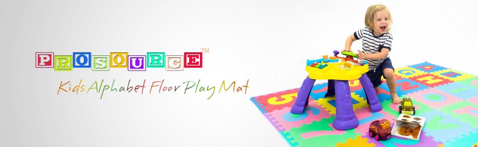 Kids Puzzle Mat, Play Mat, Floor Mat, Colored Mat, Alphabet, Prosource, 36 tiles, 12in x 12in