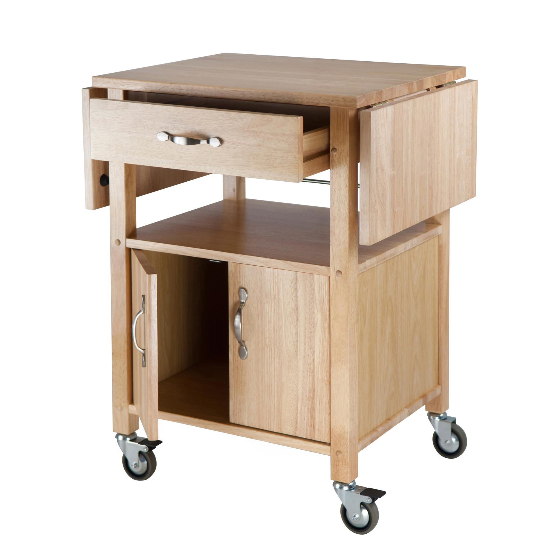 Amazon Com Winsome Wood Drop Leaf Kitchen Cart Bar