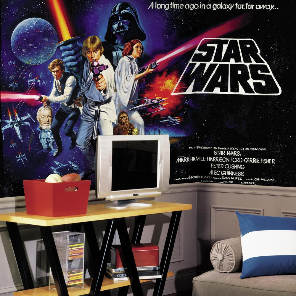 Amazoncom RoomMates JL1217M Star Wars Classic Prepasted Chair Rail