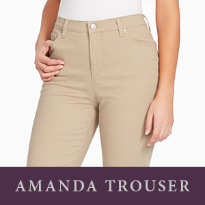 2750d0ec Gloria Vanderbilt Women's Amanda Polished Trouser Pant