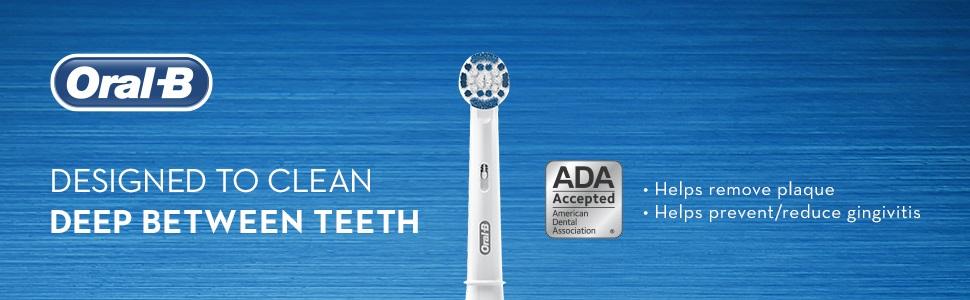 Designed to clean deep between teeth