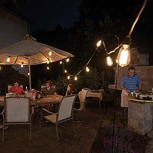 Bay kiriş ışıklar, hava koşullarına dayanıklı dize ışıklar, olay dize ışıkları, veranda dize ışıklar