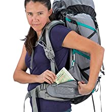 Two zippered front pockets provide additional storage and organization options