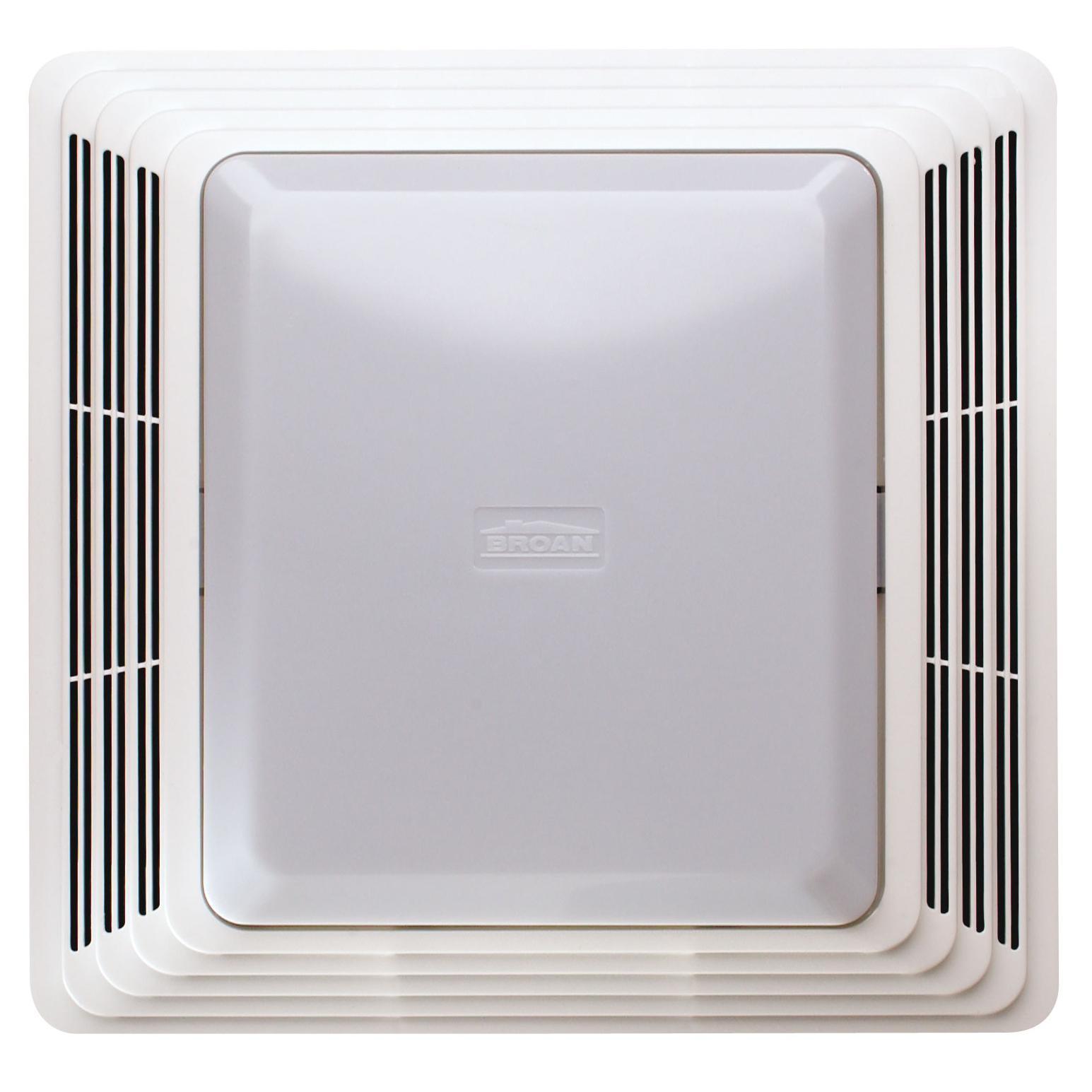 Broan hd80l 80 cfm 2 5 sones heavy duty fan light - Broan 80 cfm bathroom fan with light ...