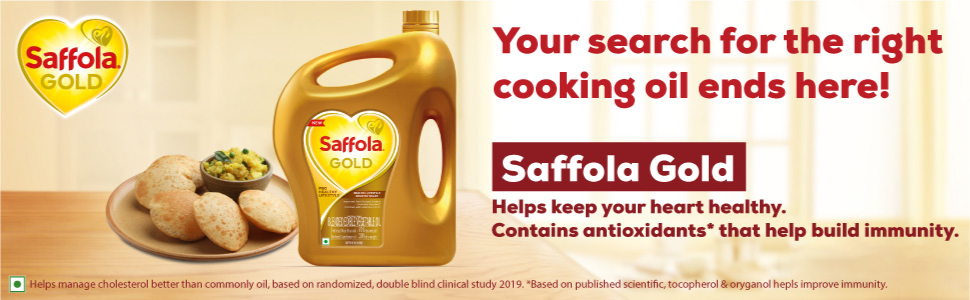 saffola,safola gold,cooking oil,edible oil,blended oil,refined oil,oil for cooking,vegetable oil