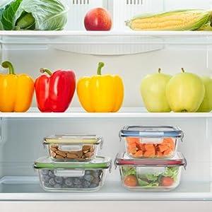 Amazon Com Vremi 18 Piece Glass Food Storage Containers