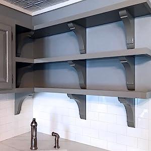 corner shelves walmart decorating bookshelves hutch lowes.htm amazon com ekena millwork bktw02x06x08gorw bracket  2 5 w x 6 d x  ekena millwork bktw02x06x08gorw bracket