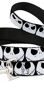 Nightmare Before Christmas Jack Skellington Skeleton Sally Disney Dog Leash Black White