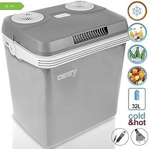 Camry CR93 Nevera Camping, Plastico, Gris, 32 litros: Amazon.es: Hogar