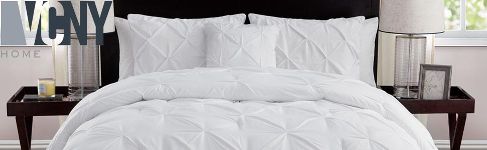 VCNY Home 4-Piece FULL 76 X 86 Soft Comforter Set Taupe Victoria Classics Company Monica
