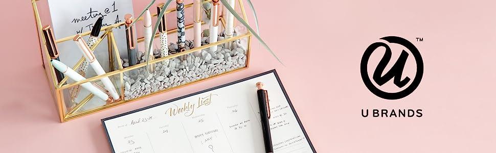 office supplies, u brands, office supplies for women, desk accessories, office desk accessories