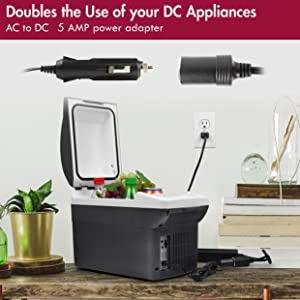ac to dc adapter, 12v adapter, 110v to 12v, 12v to 110v, AC to DC, 120V to 12V, wall to car adapter