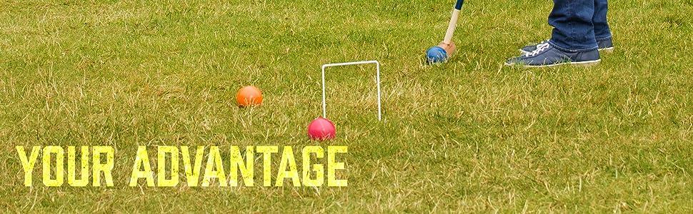 baden deluxe croquet, baden champions series croquet set, crokay balls, best croquet sets, lawn game