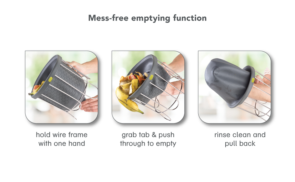 Mess-free emptying