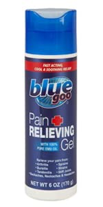 blue goo, blue emu, pain relief gel, 6 ounce pain relief gel