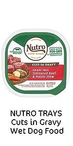Nutro Trays Cuts in Gravy Wet Dog Food, Soft Wet Dog Food, Protein, Meat, Chunks, Soft Dog Food