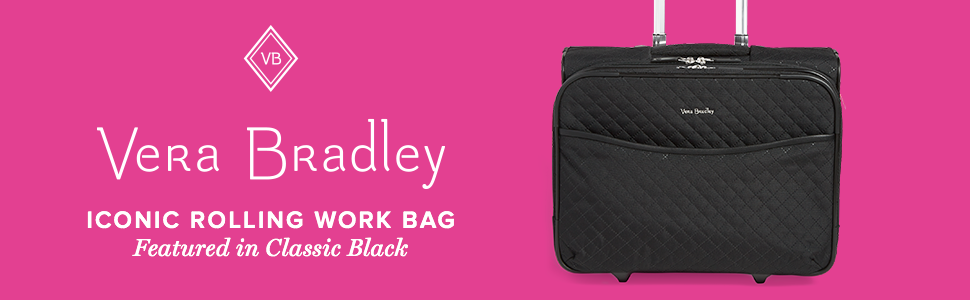 b33ad3fb80 Amazon.com  Vera Bradley Iconic Rolling Work Bag