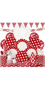 ... Red Polka Dot Party Supplies Kit For 8 · Red Polka Dot Paper Plates,  8ct · Red Polka Dot Paper Cake Plates, 8ct · Polka Dot Plastic Tablecloth,  ...
