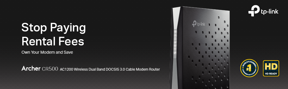 TP-Link CR500 16x4 DOCSIS3.0 AC1200 WiFi Cable Modem Router New