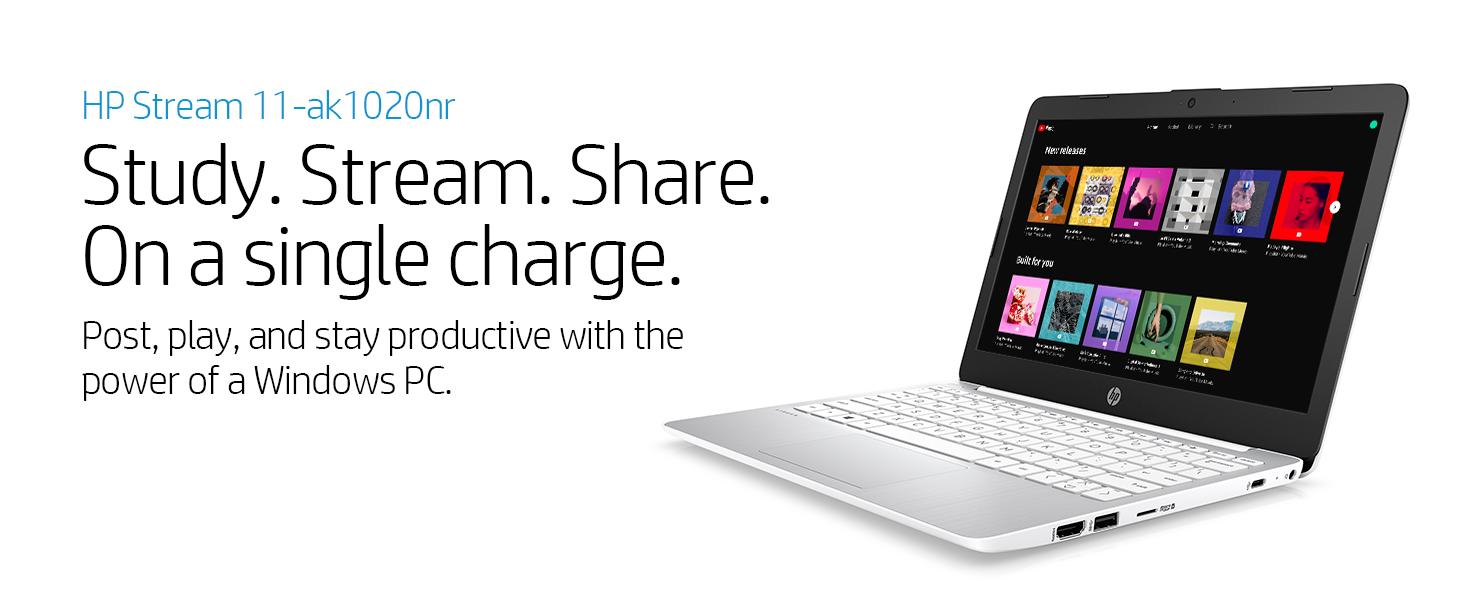hp stream laptop notebook 11-ak1020nr