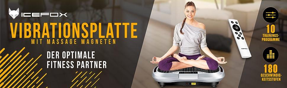 icefox Unisex-Adult Fitness Vibrationsplatte Wei/ß 09