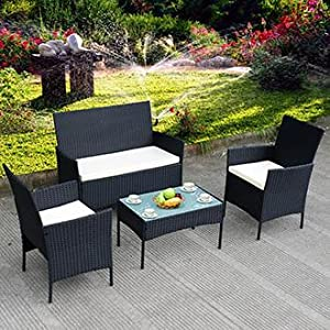 High Quality Tangkula 4 Piece Patio Wicker Set