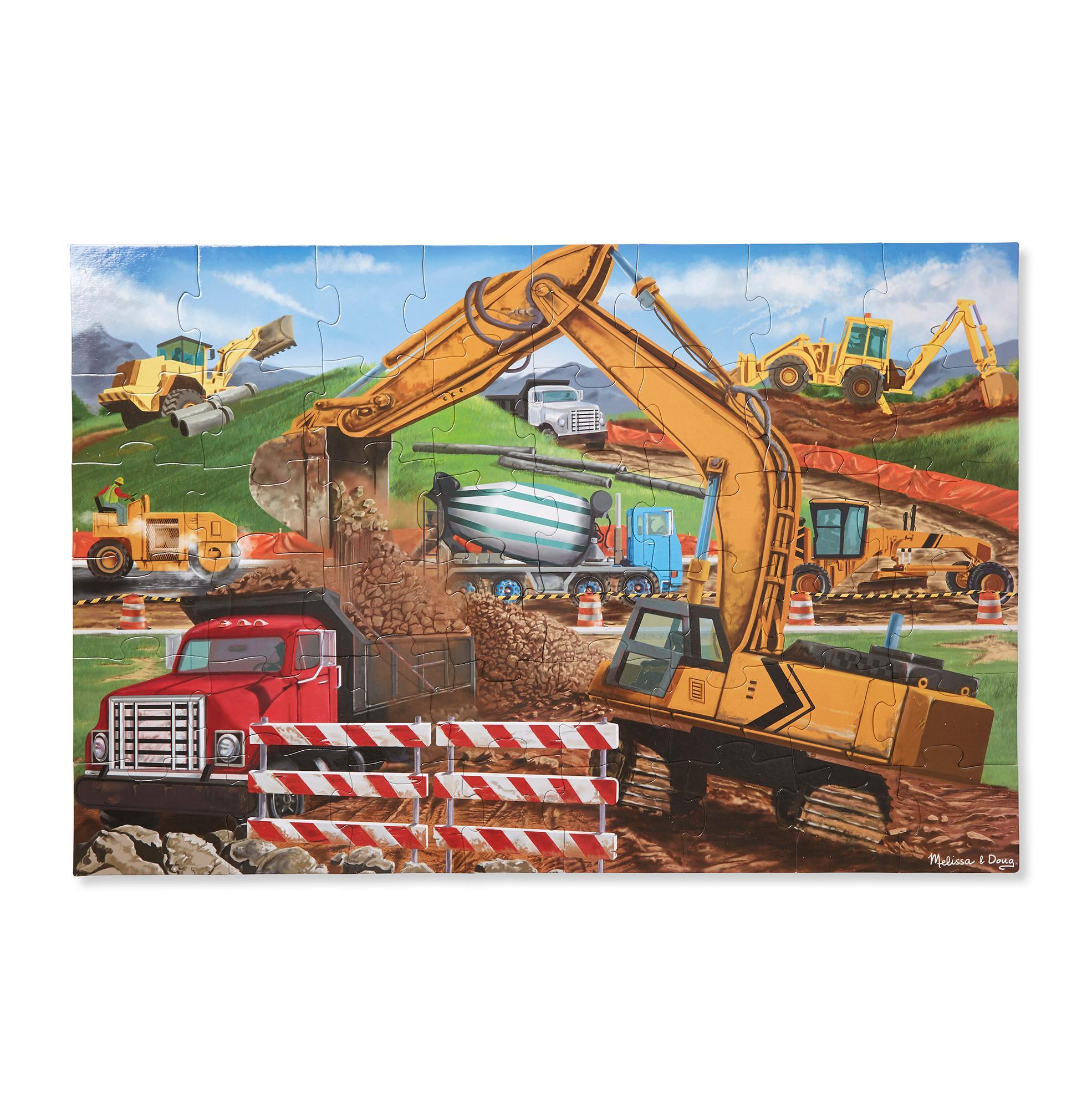 Melissa U0026 Doug Building Site Jumbo Jigsaw Floor Puzzle (48 Pcs, 2 X 3 Feet  Long)