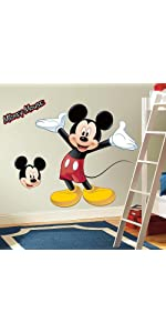 disney mickey mouse peel and stick wall decals, peel and stick wall decals